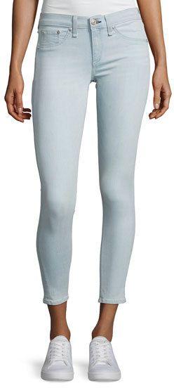 Rag & Bone Mid-Rise Skinny Capri Jeans, Indigo