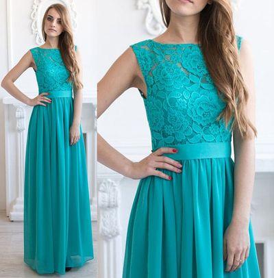 Turquoise bridesmaid dress, scoop neck bridesmaid dress, formal bridesmaid dress, 2016 cheap bridesmaid dress, long bridesmaid dress,15222
