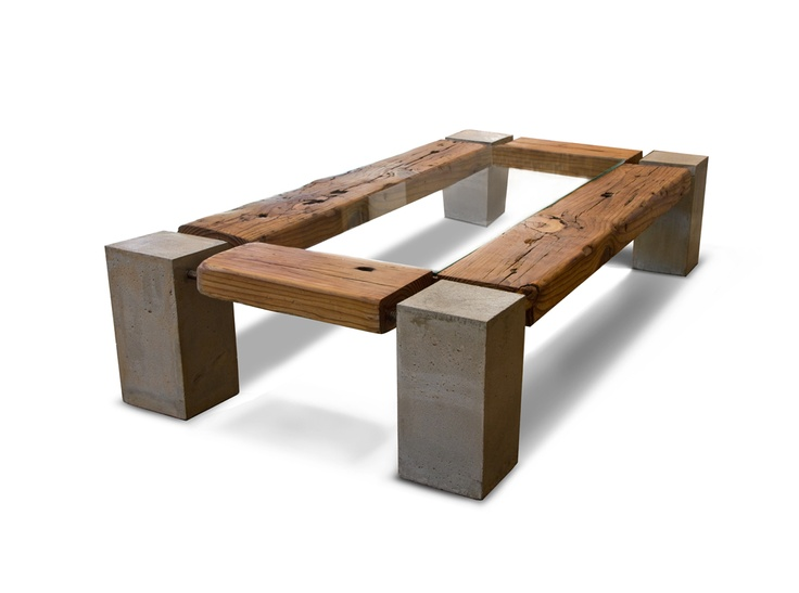 Concrete,reclaimed wood & glass By olga guanabara. Made in Brooklyn.