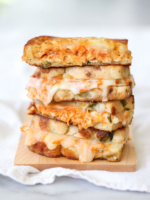 Buffalo Chicken Grilled Cheese and How to Get an Epic Grilled Cheese Photo @Heidi | FoodieCrush
