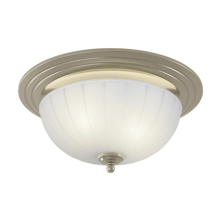 decorative brushed nickel 70 cfm ceiling exhaust bath fan with light