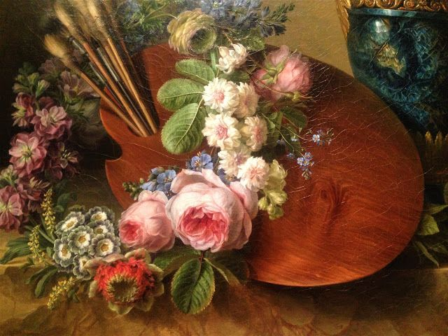 Charlotte Eustache 1780 Palette with Flowers  -French