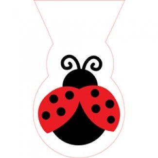 Ladybug Party Supplies, Fancy Ladybug Cello Bags, Ladybug Bags