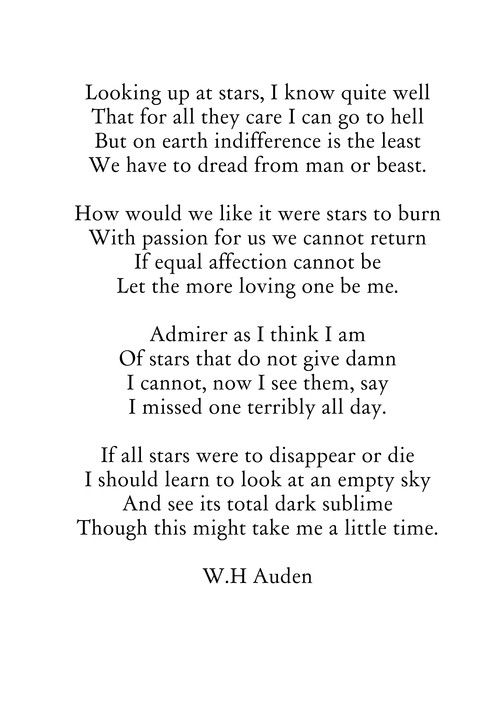 auden and love essay Auden makes the readers directly feel the same emotions that the jews are feeling desolation, helplessness, and vulnerability are gradually emphasised on throughout the poem we will write a custom essay sample on owen and auden specifically for you for only $1638 $139/page.