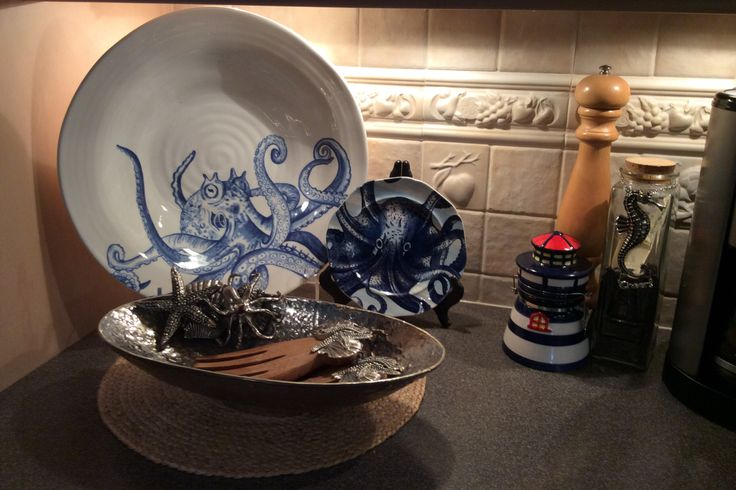 Part Of My Nautical Dishes Large Octopus Bowl From Home