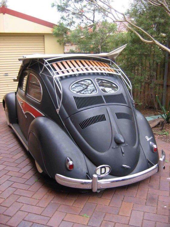 VW Camper, roof rack, split rear screens - old skool kool!