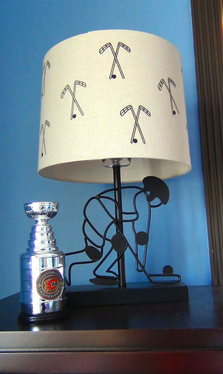 Boys hockey bedroom ideas - Hockey Lamp Little Boys Fan Themed Room