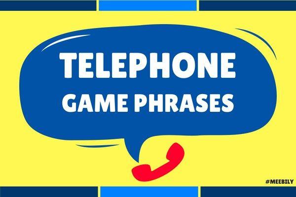 Telephone Game Phrases Ideas  #telephone #game #phrases #ideas #game #fun