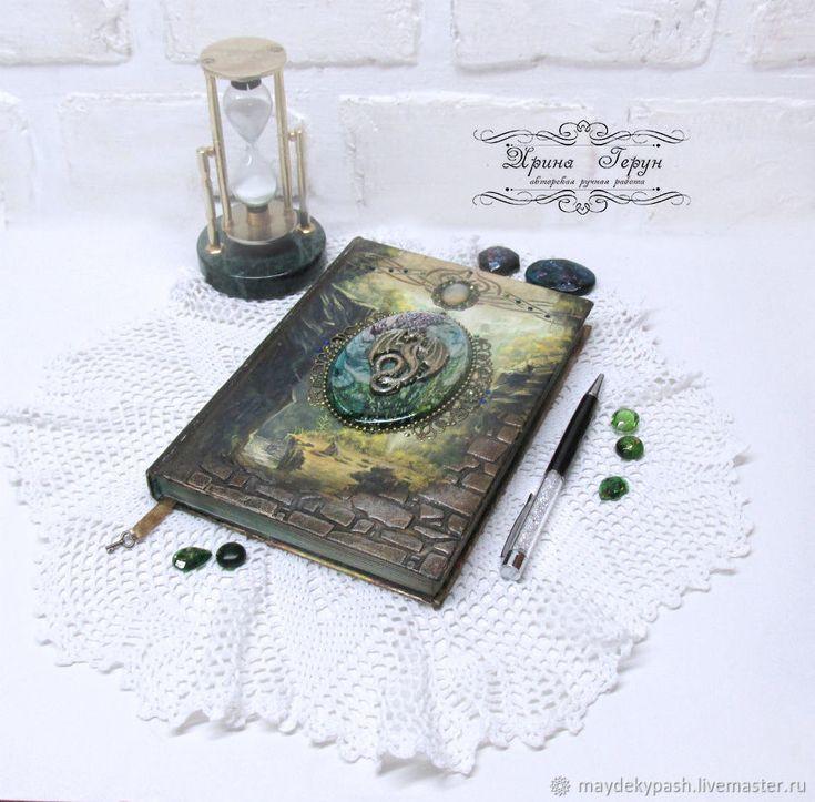 """Купить Ежедневник """"Тайна Дракона"""" - дракон, ежедневник, зеленый, подарок, подарок на новый год"""