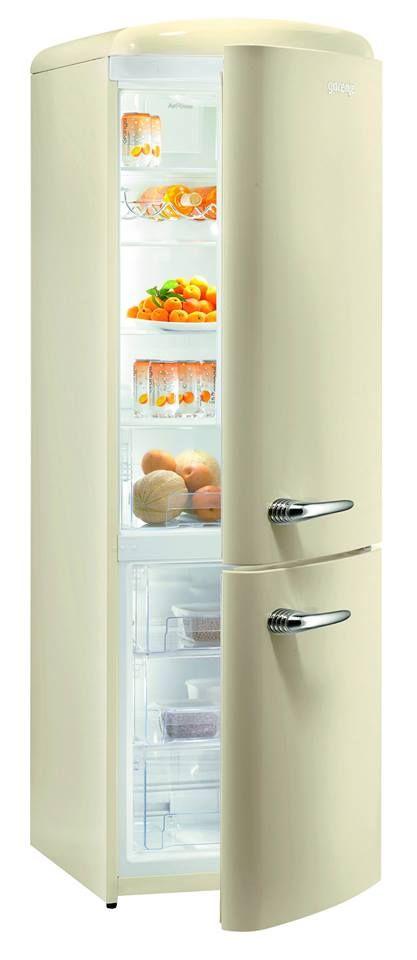 RK60359OC - Retro Champagne Freestanding Fridge Freezer