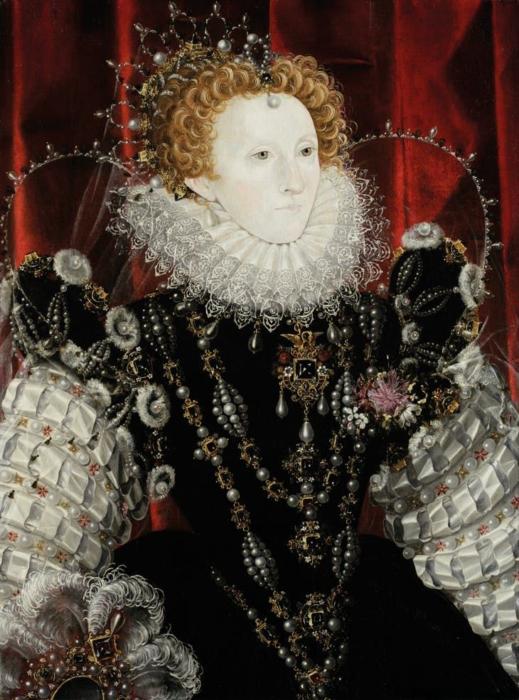 Queen Elizabeth I (1533–1603) (1576–78), attributed to Nicholas Hilliard. Rothschild Family