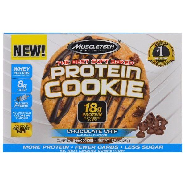 Muscletech, プロテインクッキー、チョコレートチップ、クッキー6枚、各3.25オンス (92 g)