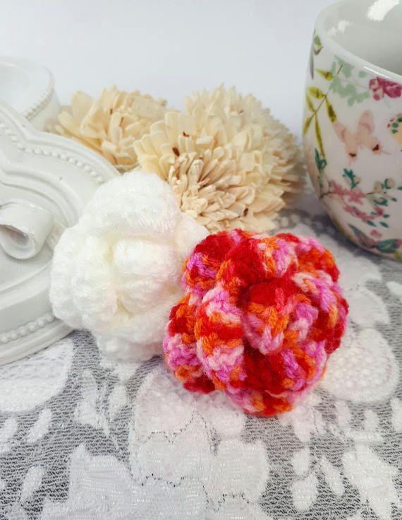 2 acrylic rose embellishments crochet roses rose appliques