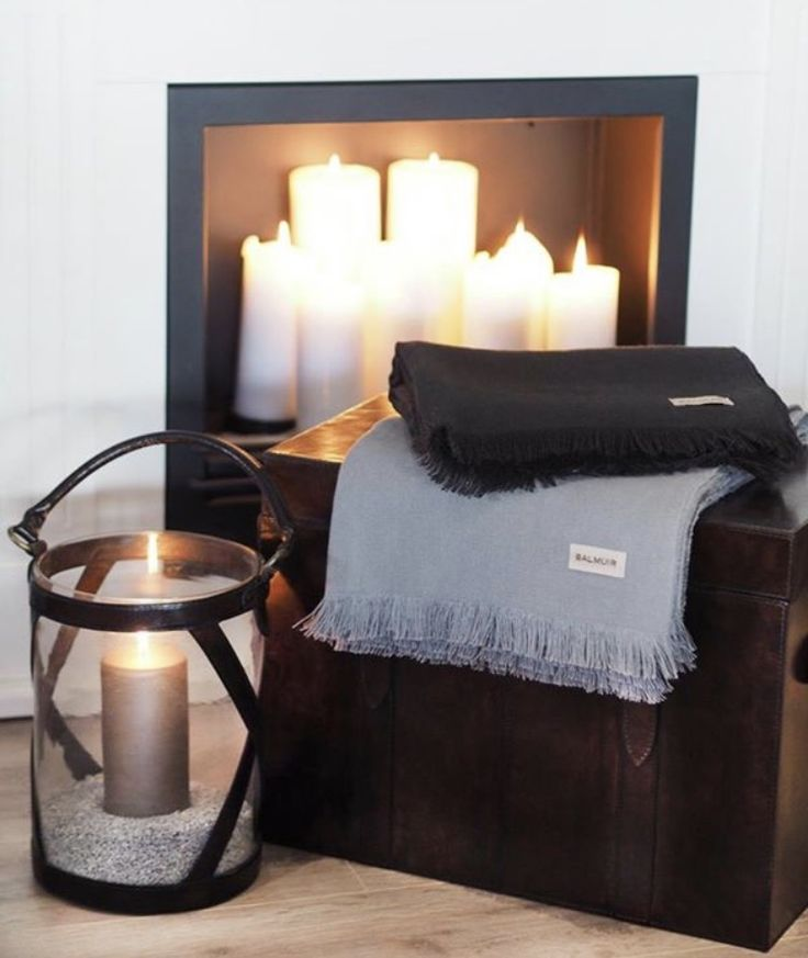 Lanterns, trunks and  throws from Balmuir.