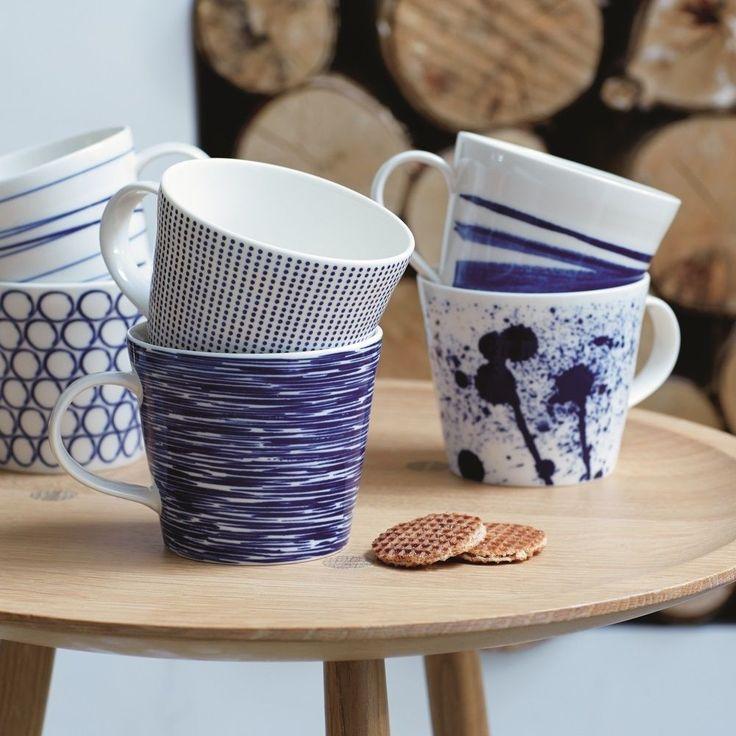 Geniet van een heerlijke kop thee of koffie met de Pacific mokken van Royal Doulton.