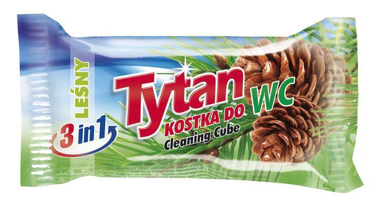 Dwufazowa kostka do WC Tytan leśny zapas / Tytan Double-phase Toilet Bowl Cleaning Cube refill