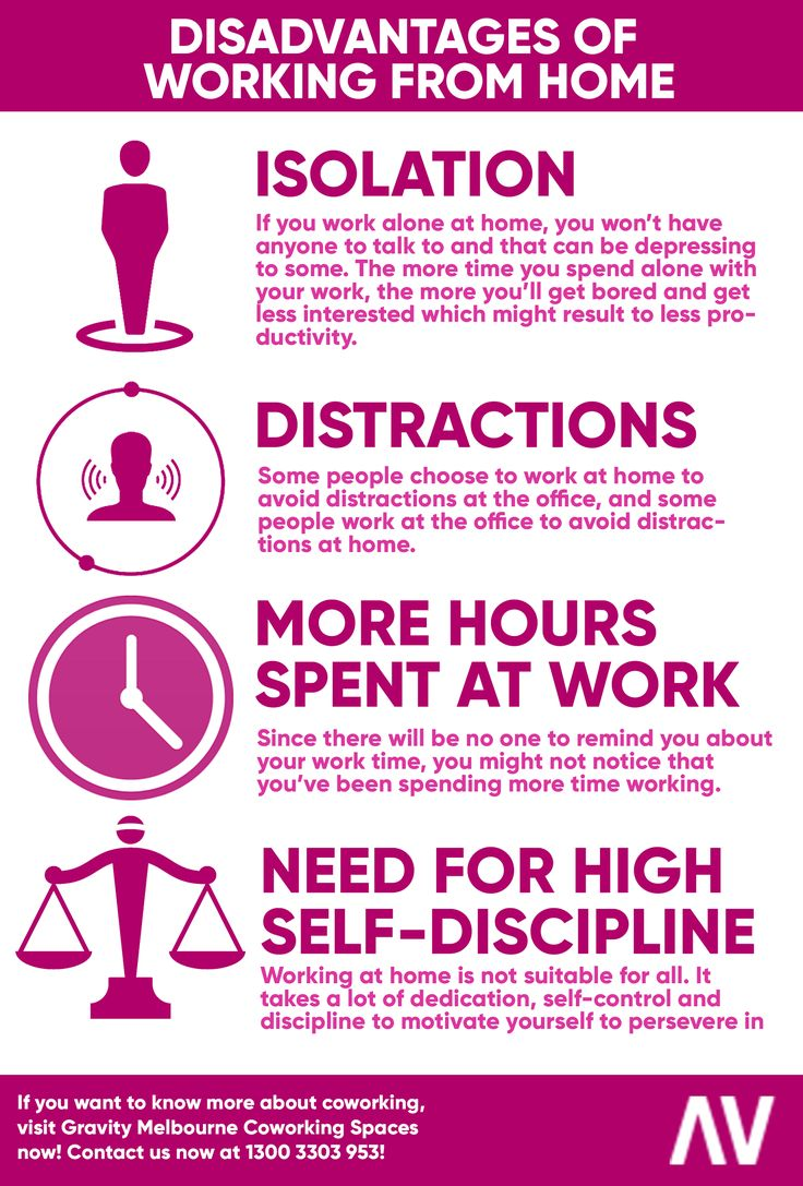 Working from home is a good option for some since they can work comfortably and have a more flexible time.