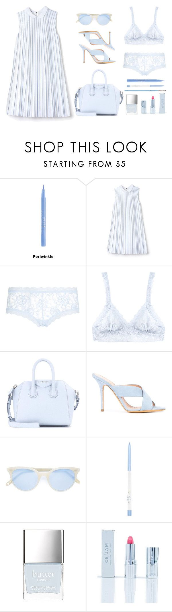 """Baby Blue"" by youaresofashion ❤ liked on Polyvore featuring Stila, Lacoste, Hanky Panky, Givenchy, ALEXA WAGNER, Garrett Leight, Ice + Jam, My Kit Co. and prettyunderpinnings"