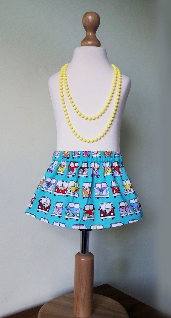 Check out this item in my Etsy shop https://www.etsy.com/uk/listing/267796234/girls-turquoise-skirt-campervan-rainbow