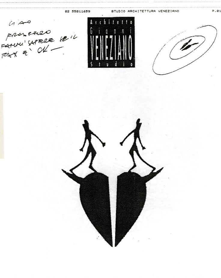 """Piatto Fax per Notte Fax, Gianni Veneziano dalla mostra """"Piatto Fax per Notte Fax"""" (aprile 1994), a cura di Prospero Rasulo con Francesca Alfano Miglietti e La Bottega dei Vasai - From the exhibition Piatto Fax per Notte Fax (April 1994), curated by Prospero Rasulo with Francesca Alfano Miglietti and La Bottega dei Vasai - Fine Factory, courtesy Prospero Rasulo, Milano  #GianniVeneziano #archive #exhibition #VenezianoTeam #LucianaDiVirgilio"""