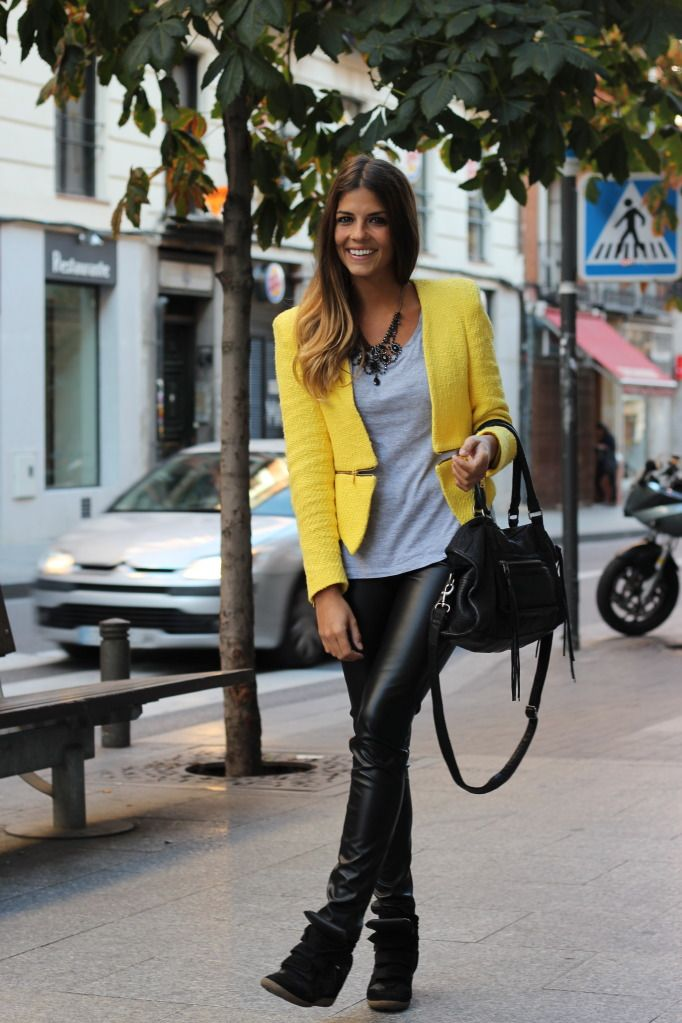 Bright Yellow Blazer looks Hot with Casual Clothes.    Photobucket