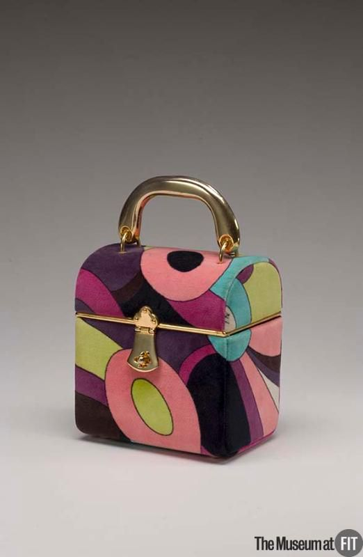 Bag Designer: Emilio Pucci 1914-1992 Medium: Printed cotton velveteen and gold tone metal Date: c.1969