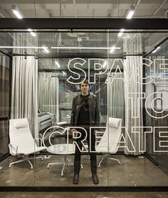 This outlined letter decal is simple but chic - meeting room glass vinyl, interior graphics, interior design, office interiors, signage, window decal, glass decals, window graphics,