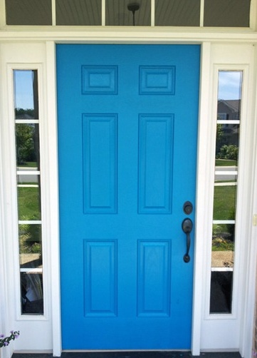 Change up your house with a bright front door!