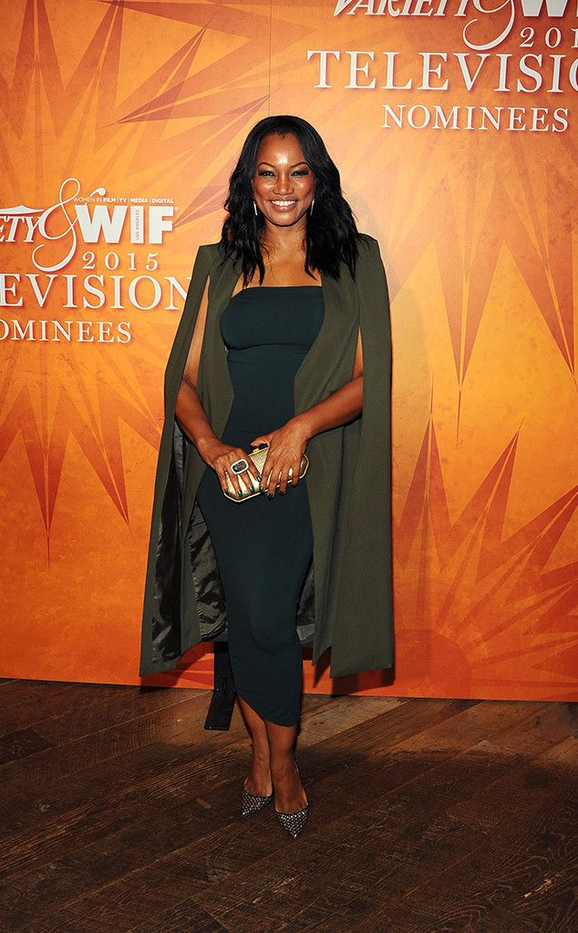 Garcelle Beauvais from Variety & Women in Film 2015 Emmys Party The Grimm actress looks stylish in a cape.