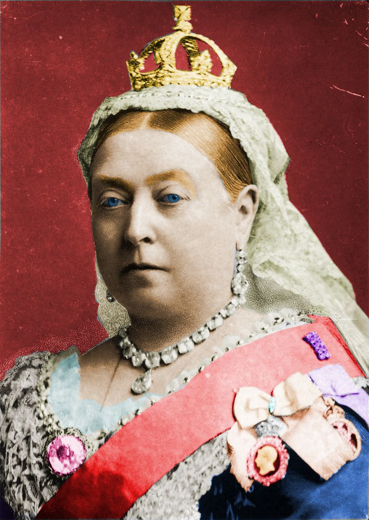 Victoria 1837-1901. Married her cousin Albert and they had 9 children. Her reign saw the beginning of the Industrial revolution. The British Empire stretched all around the world, and was at its largest while she was Queen. Victoria was made Empress of India.