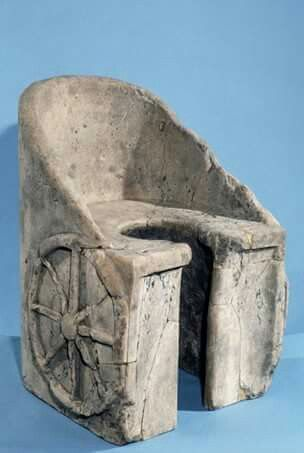 The Best Toilet in History  A Roman toilet in the shape of a chariot from Caracalla , Rome , 2nd/3rd-Century AD!  At the British museum!!  Shared by Edith Cruz.  http://historybuff.com/the-best-toilet-in-history-bWl3deOrDJ0O Shared by Edith Cruz