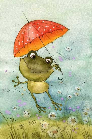 Зонт в горошек (Виктория Кирдий)