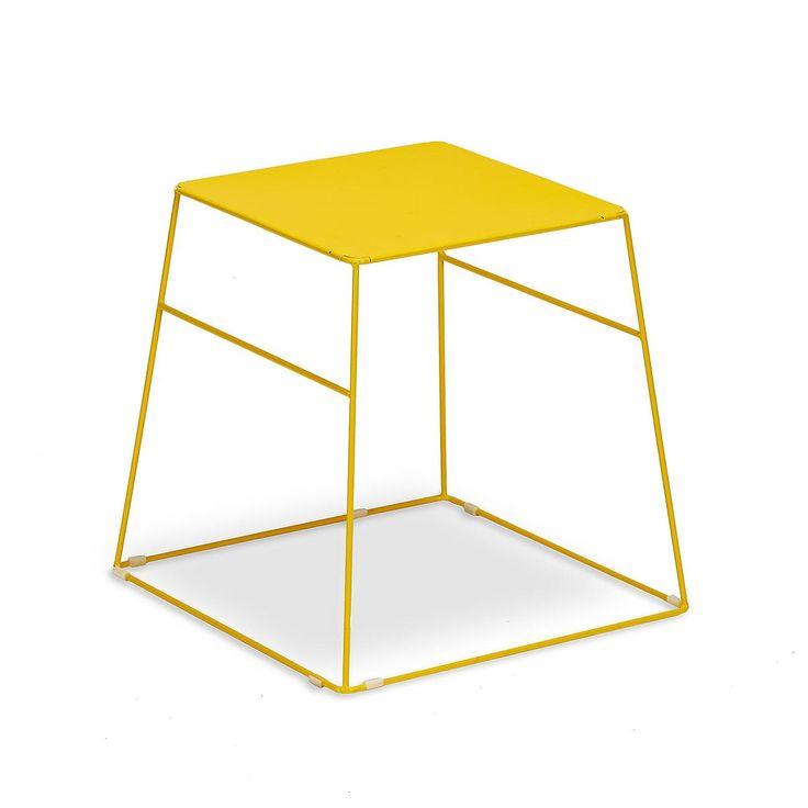 Beistelltisch konisch Metall gelb ca L:45 x B:45 x H:44 cm