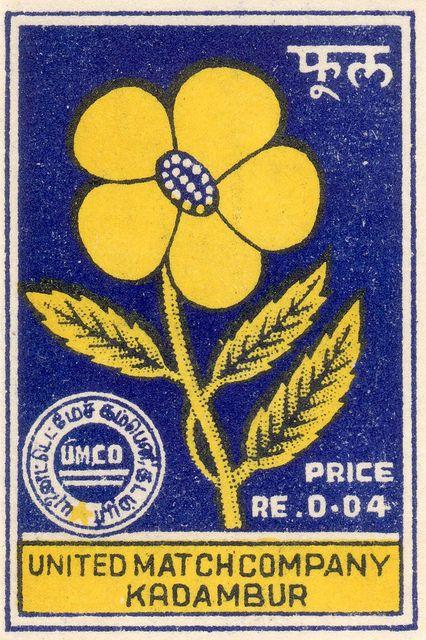 Vintage Indian matchbox cover