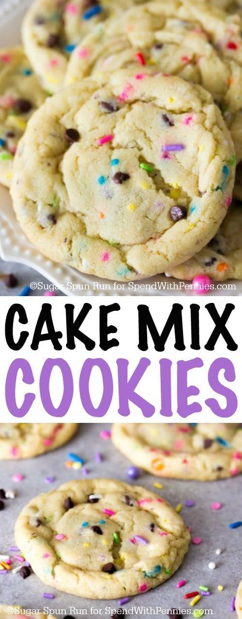 These cake mix cookies are made from a doctored cake mix!  They're easy, buttery, and have a wonderful cake batter flavor! (Cake Mix)
