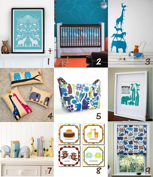 Inspiration Board: Bold and Modern Noah's Ark Nursery ‹ Itsy BelleItsy Belle