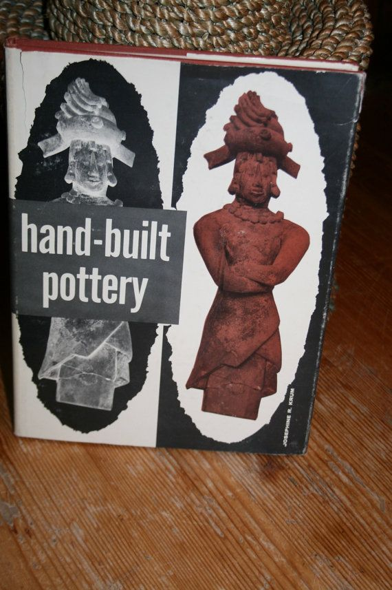 1960 Hand Built Pottery hardcover old art by DickandJanesbooks, $18.75