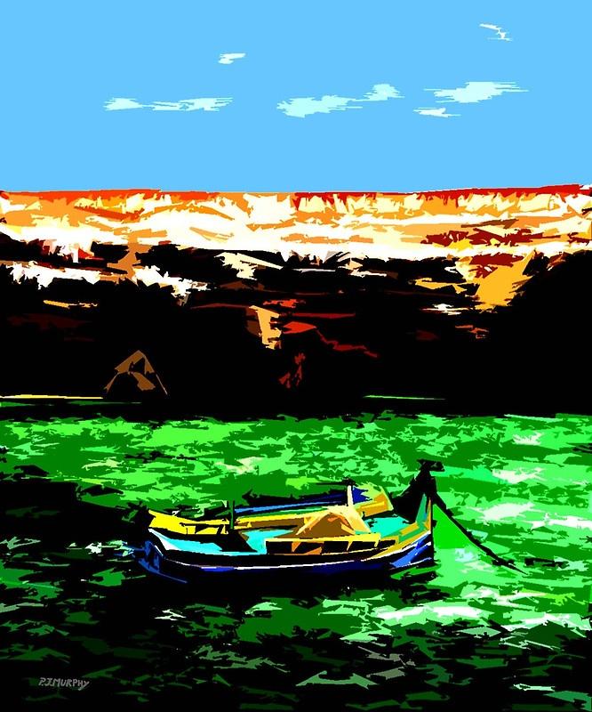 "p.j.murphy ""MEDITERRANEAN MALTA""  @redbubble  #art as cards,prints,posters"