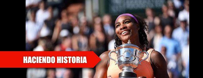 Se impuso en la final de Roland Garros a la checa Lucie Safarova en tres sets y se queda a solo dos títulos del registro de la alemana Steffi Graf.