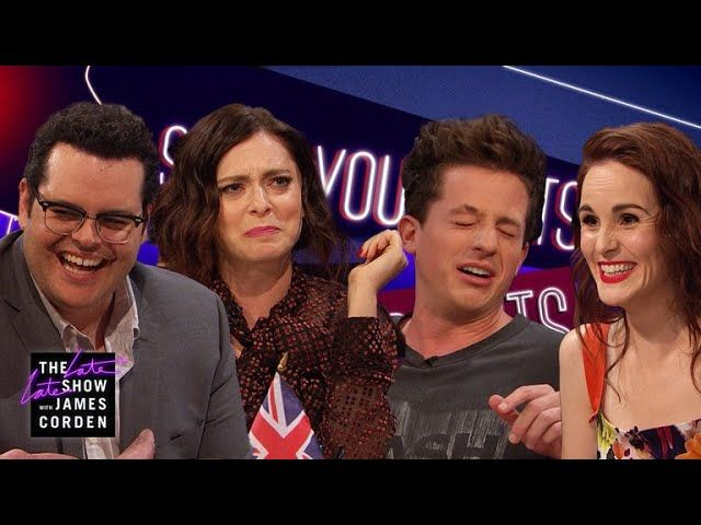 James invites his guests Charlie Puth, Josh Gad, Michelle Dockery and Rachel Bloom to play a game of Spill Your Guts, where you must either answer a tough question or eat something disgusting, like a cow's tongue.      https://www.youtube.com/watch?v=n8t9yJIKkvM   #Carpool #CBS #celeb #Celebrities #Celebrity #colbert #Comedian #Comedy #Corden #Famous #funny #funny video #funny videos #hollywood #humor #impressions #James Corden #Joke #jokes #Karaoke #Late Late Show #late ni