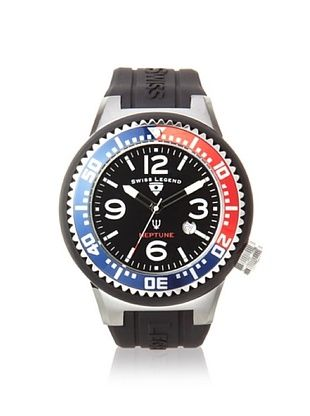 Swiss Legend Men's 21818P-01-RBL Neptune Black Dial Silicone Watch