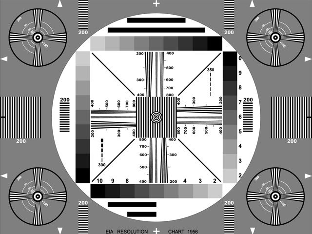 Kids woke up to find T.V. test patterns like this one on the screen while waiting for Saturday morning cartoons to begin.