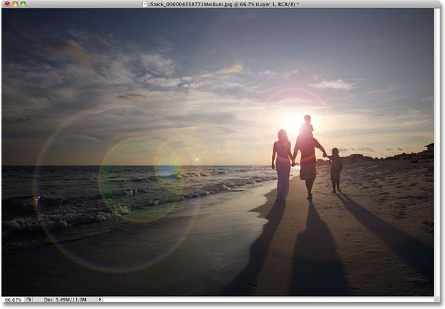 How to make a sun flare on photos with Photoshop.  I really need to learn how to use that program.