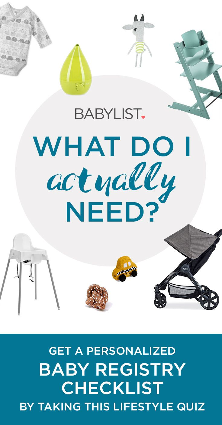 Finally! A personalized baby registry checklist tailored to your budget & lifestyle. Take the quiz to find out what your baby actually needs & get a free baby registry full of essentials--instantly!