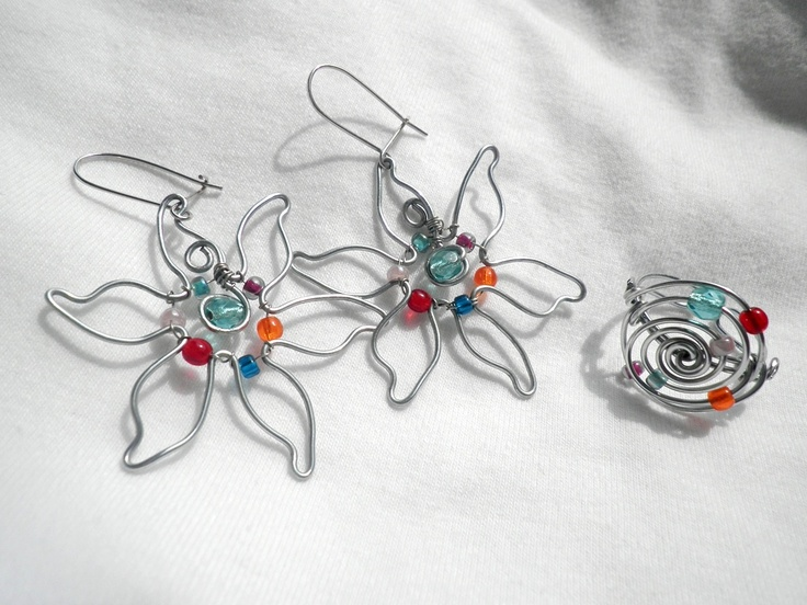 jamie's wire ring and earrings