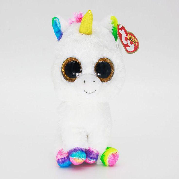 "6"" Ty Beanie Boos Rainbow Unicorn Plush Stuffed Animals Soft Kids Toys CS | eBay"
