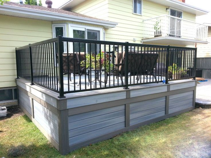 Low Maintenance Deck Skirting Idea In Grey Black Wrought