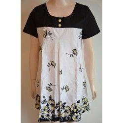 Straboski dámské šaty bílo černé 42
