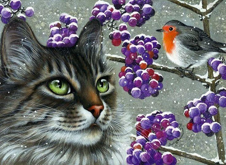 Живет на свете кошка... Художница Irina Garmashova-Cawton.. Обсуждение на LiveInternet - Российский Сервис Онлайн-Дневников