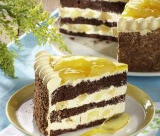 Čokoládový dort s ananasem